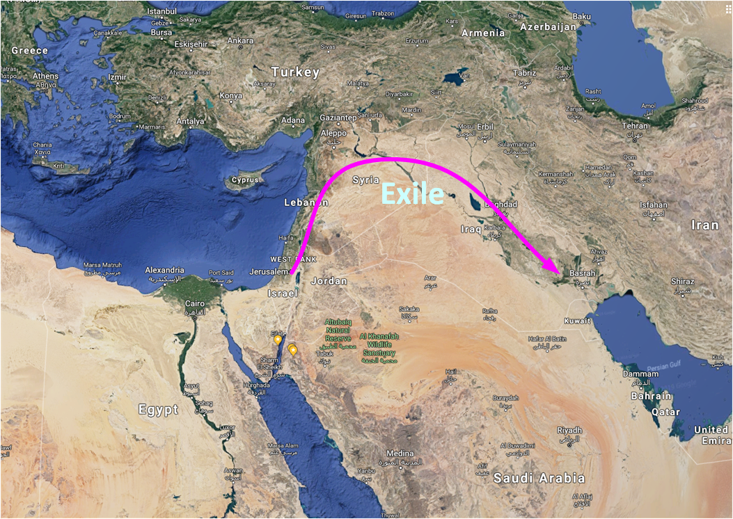 Map of the Exile to Babylon