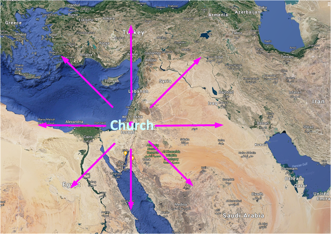 Map of the church expands