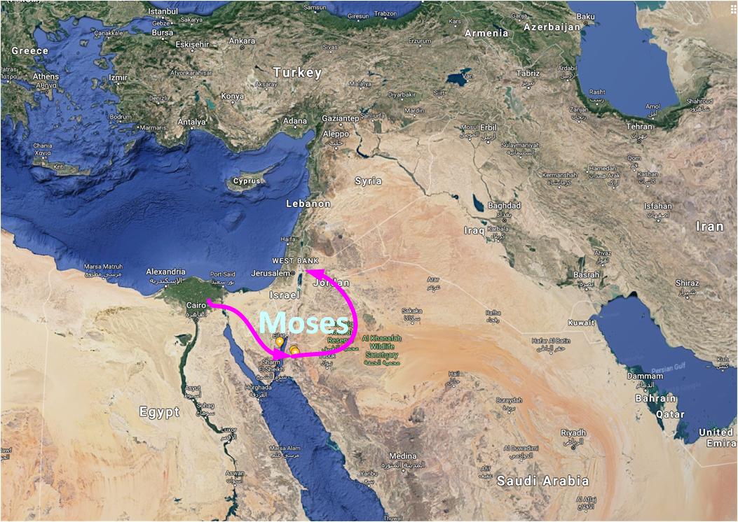 Map of Exodus