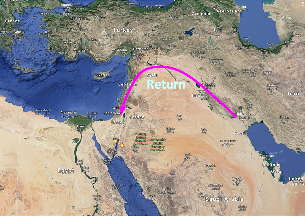 Map of the return from exile